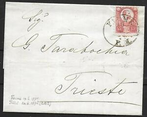 Hungary covers 1874 5Kr folded cover Fiume to Triest