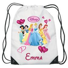 Disney Princess Drawstring Swimming, School, PE Bag For Girls Personalised