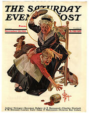 Orig VTG 1931 Saturday Evening Post Leyendecker Spanking Cover Only Art Print