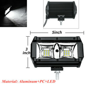 54W Work Spot LED Light Bar 6500K Car Fog Lamp IP67 Truck Off-road Vehicle Boat