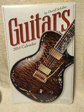 Guitars 2014 Calendar by David Schiller Sealed! Mip