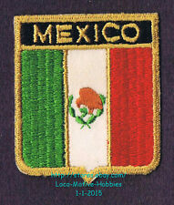 LMH PATCH Woven Badge  MEXICO Tricolor Bands MEXICAN FLAG Ensign Green White Red