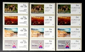 Ir Life & Culture Issues  - 3 Print Varieties--Strips x 4
