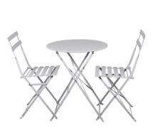 2 Stühle 1 Tisch Balkongarnitur 3tlg Bistro Balkontisch Klappstuhl Balkonset T24