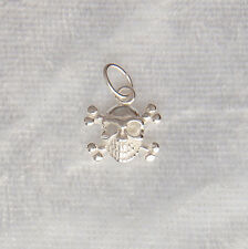 Sterling Silver Skull & Crossbones Pirate Charm Small 10mm 925