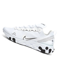 NIKE MENS Shoes React Element 55 Gel - White & Black - OW-CU3009-100