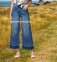 New Womens Blue Ankle Wide Leg NEXT Jeans Size 12 Long RRP £30