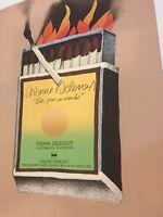 Etienne Delessert Notes Pour Un Incendie, Galerie Marquet, Paris, 1975 Poster