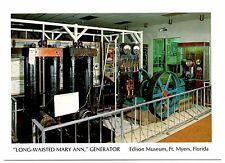 Long Waisted Mary Ann Generator Edison Museum Fort Myers Florida Postcard Thomas