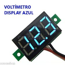 VOLTIMETRO DIGITAL 3 HILOS DC 3 DIGITOS LED AZUL 0-32 V MICROCONTROLADO - ESPAÑA