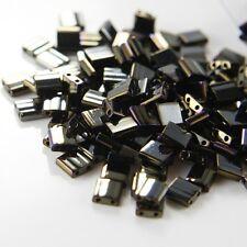 10 Grams Miyuki Tila Beads-Brown Opaque Iris Metallic (TL458)