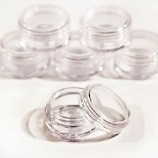 10pcs 5ml Plastic Sample Pot Clear Empty For Nail Art Glitter Craft jdc10