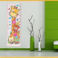 Cute Baby Children Cartoon Animal Height Growth Measuring Chart Wall Sticker