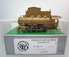 LAMBERT HO SCALE CHESAPEAKE & OHIO C-15A 0-8-0 STEAM ENGINE & TENDER W/SOUND U/P