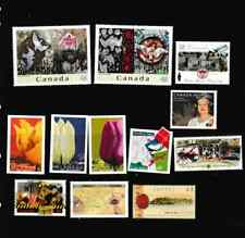 #3297=Canada used NO CANCEL selection of different commemorative stamps