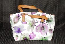 NWT Pattern Minicci Shoulder Bag Vinyl Magnolia White Purple Lite Dark Gorgeous