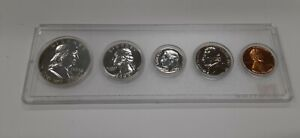 1963 United States Mint 5 Coin Proof Set in a Whitman Plastic Holder 90% Silver