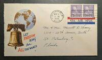 1943 Springfiend Massachusetts to St Petersburg Florida  WWII Patriotic Cover