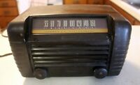 FOR PARTS: RCA Victor Tube Radio Model 65X1 Art Deco Black Classic Radio vintage
