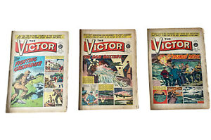 3 x Victor Comics dated 1962 Issues 90,91,92 Consecutive Run **FREE UK P&P **
