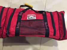 Rare Vtg 90s Marlboro Large Duffle Bag Spell Out