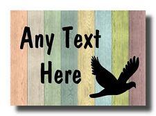 Pastel Wood Dove Pigeon Personalised Jumbo Fridge Magnet