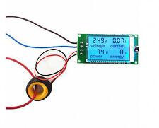 AC 110V-220V Digital LED 100A watt power meter volt amp Ammeter Voltmeter + CT
