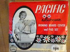 Vintage Pacific Silicone Ironing Board Cover Pad Set 1960 Sealed Huntersville Nc