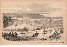 1861 Leslie's - December 14- The Battle of Belmont MO across from Columbus KY