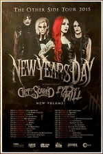 NEW YEARS DAY | GET SCARED Malevolence Ltd Ed RARE Tour Poster +FREE Rock Poster
