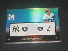 DEREK JETER YANKEES  CERTIFIED AUTHENTIC BASEBALL USED DUAL JERSEY CARD /75 RARE