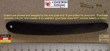 "Dovo Ebony Wood Straight Razor Scales for 5/8"" (inc. Pin/Rosette/Washer)"