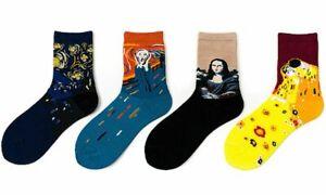 Novelty Funky Artist Art Famous Paintings Socks Size 4-7