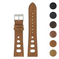 DASSARI Distressed Leather Rally Racing Watch Band Strap