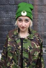 GREEN ARMY GOLD STUD BEANIE HAT STREET HIPSTER BEENIE KAWAII FESTIVAL GHETTO