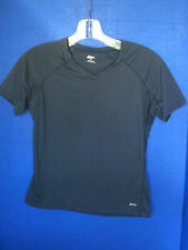 Mountain Equipment Co-op~Charcoal Gray V-Neck Short Sleeved SHIRT~Womens Small