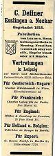 C. Deffner Esslingen a. Neckar Luxus- u. Haushaltungsartikel Historische Reklame