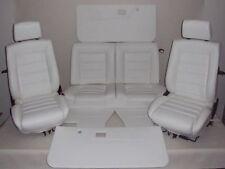 VW Golf 1 Cabrio en cuir synthétique housses pour la décoration intérieure sièges U arrière blanc a