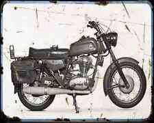 Ducati Condor 350 Militare A4 Metal Sign Motorbike Vintage Aged