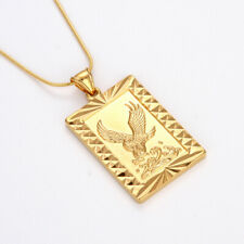 "Men's Eagle Pendant Necklace 18k Yellow Gold Filled 18"" Fashion Jewelry"