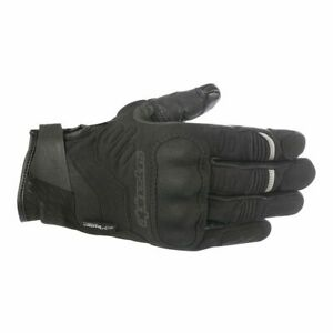 Alpinestars C30 Drystar Waterproof Motorcycle Motorbike Textile Gloves - Black