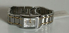 NEW! JESSICA SIMPSON TWO-TONE SILVER & GOLD TONE STRAP BRACELET WATCH $90 SALE