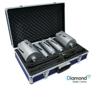 Mexco DCX90 11 Piece Dry Diamond Core Drill Bit Set Kit Boiler Flue Soil Pipe