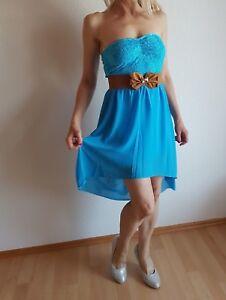 Sommerkleid,Cocktailkleid ,Bandeau-,Minikleid mit Spitze,Einheitsgr. 32-34-36-38