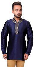 Mens Short Kurti Shirt Style Wedding Mandarin Collar Kurta Tunic Apparel 2012
