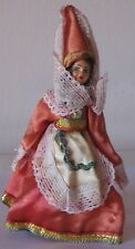 Doll in the national costume Greek maiden. 1950. Free shipping.