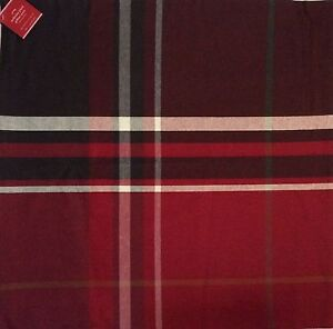 """Pottery Barn McKINLEY PLAID Pillow Cover 24 x 24"""" Red Multi-color New with tag"""