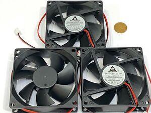 3 Pieces  GDStime Fan 24v 3d printer GDA 8025 80mm 25mm 2pin Brushless DC G14