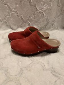 New Vionic Kacie Slip On Clogs Red Suede Women's 8