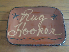 New Listing'Rug Hooker' Hand-Crafted Redware Plate